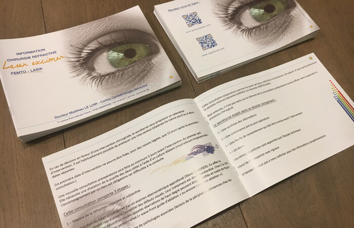 Réédition & Livraison des livrets d'information sur la chirurgie réfractive